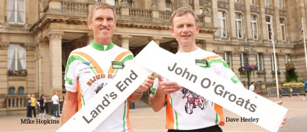 College principal to ride 1000 miles in 10 days with 'Blind Dave'