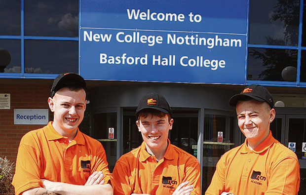 Nottingham College construct a course for teenagers