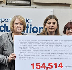Education unions join forces to lobby over pension cuts