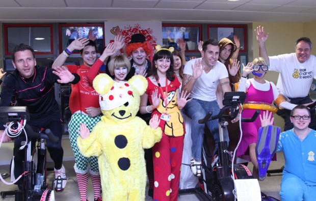 City College Norwich staff get on their bikes to raise money for children in need