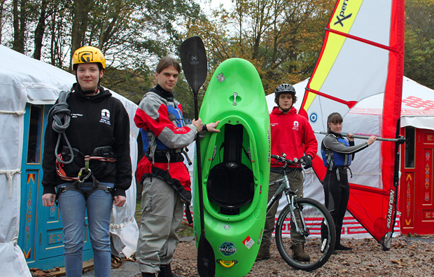 City College Norwich makes trails for new outdoor adventure courses at Eaton Vale