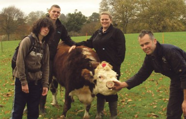 Bicton College students get pat on the back for smelly Children in Need fundraiser