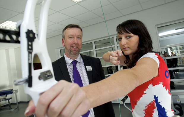Dearne Valley College archery champion points the way for new fitness centre