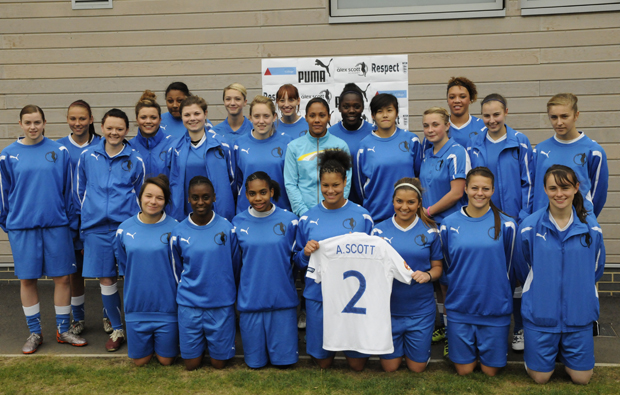 Kingston College scores celeb endorsement for UK's first ever women's football academy