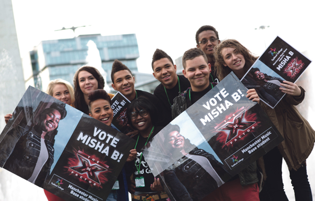 Trafford College students support Misha B