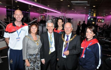 Brian Ashton opens new sport and fitness centre Lancaster and Morcambe college