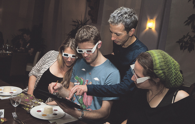NCN's gourmet dinner is even better in 3D!