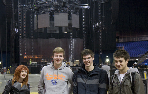 South Essex College students inspired by back stage tour of Red Hot Chili Peppers gig