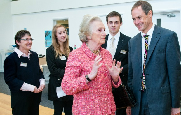 Lord-Lieutenant Dame Mary Fagan opens new library at Barton Peveril College