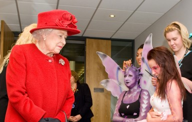 Royal visit for East Surrey College students