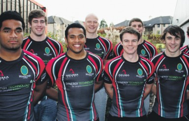 Myerscough College rugby players scrum down for England Colleges' Rugby Squad