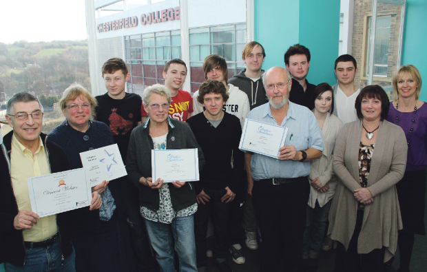 IT students turn their hands to teaching for Chesterfield College 50+ mentoring project