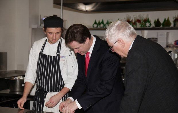 Nick Clegg pays visit to Colchester Institute