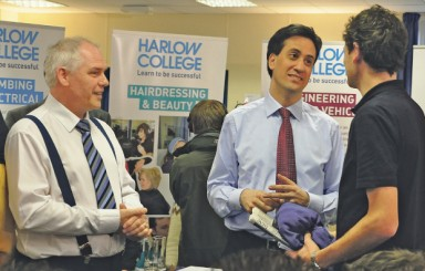 Labour leader takes tour of Harlow College