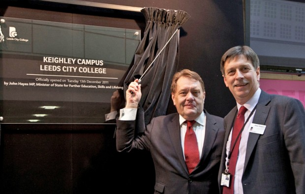 John Hayes visits Leeds City College