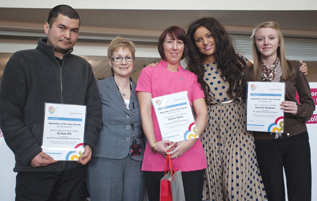 Bolton celebrate with Apprentice of the Year