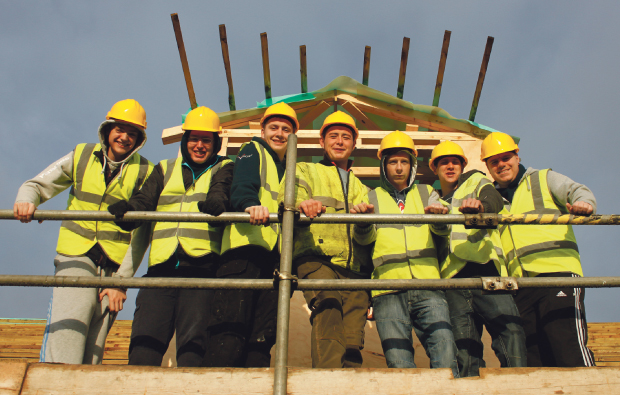Burton and South Derbyshire College students club together for building project