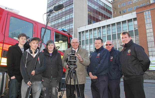Chesterfield College fire and rescue film