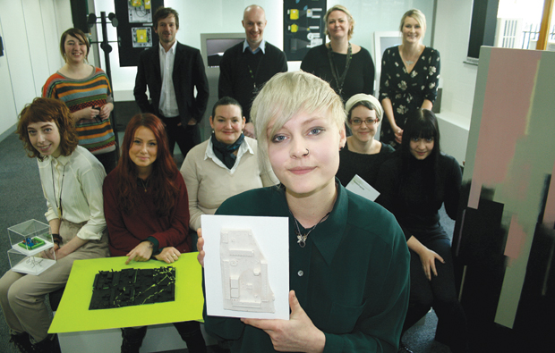 Students from City College Brighton and Hove design circuit board style artwork