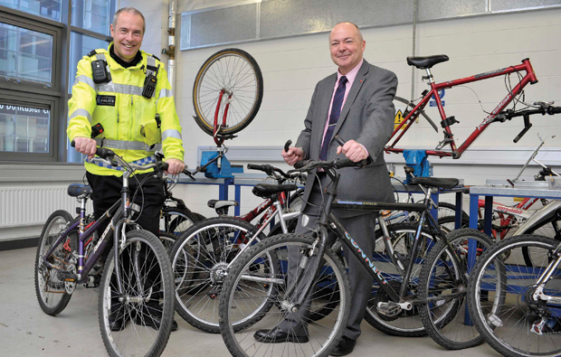 Police donate broken bicycles for Doncaster College repair qualification