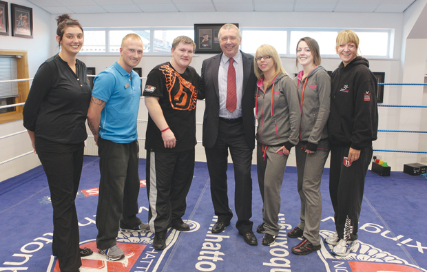 Ricky Hatton recognised for his eleven apprentices trained by Trafford College