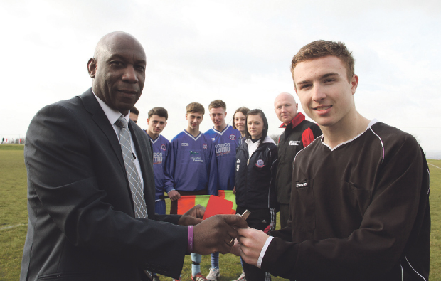Chesterfield College launches new referee Academy with Premier League star visit