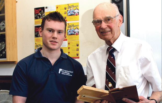 WW II veteran visits Chesterfield College