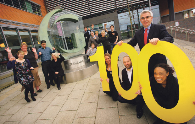 Gateshead College named one of Britain's best Not for Profit Organisations to work for