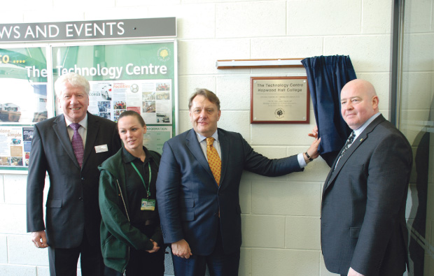 Hayes cuts ribbon at Hopwood Hall college