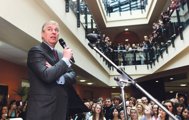 Duke of York marches up to Newcastle-under-Lyme College for right royal visit
