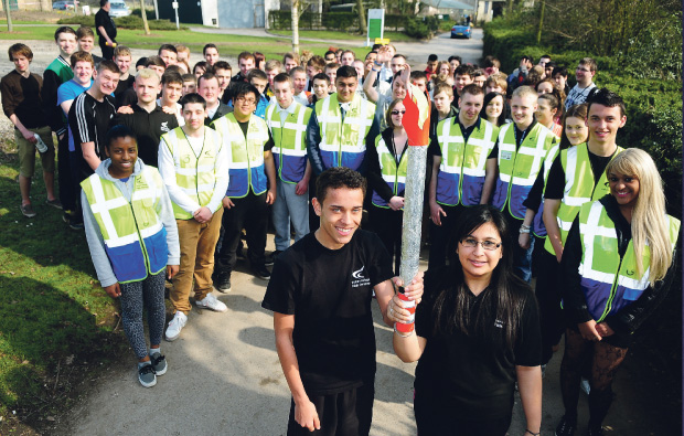 Derby College students to aid police and security forces at local Olympic torch relay