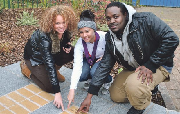 Hospice dedicates valuable brick to Newham College fundraisers