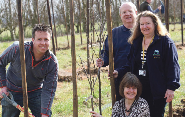 Pershore College plants orchard on campus