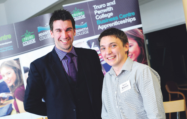 Truro and Penwith College apprenticeship event gets visit from The Apprentice winner