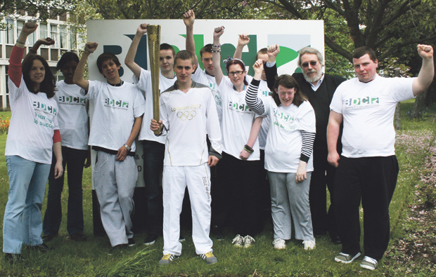 Former Barking and Dagenham College student shines as Olympic torch bearer