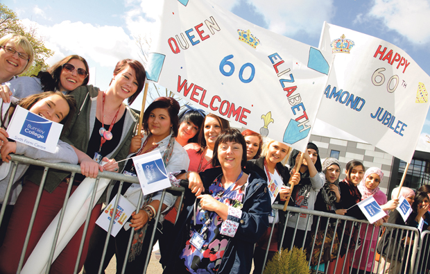Burnley College welcomes Royal visitors