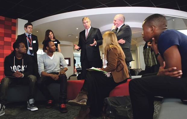 The Duke of York hears all about Student enterprise success at City College Norwich
