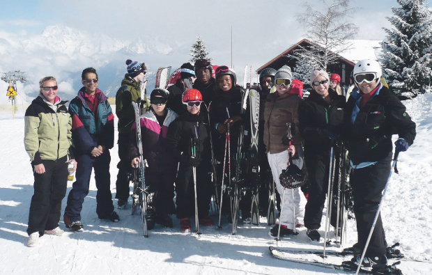 Leyton Sixth Form College hits the slopes