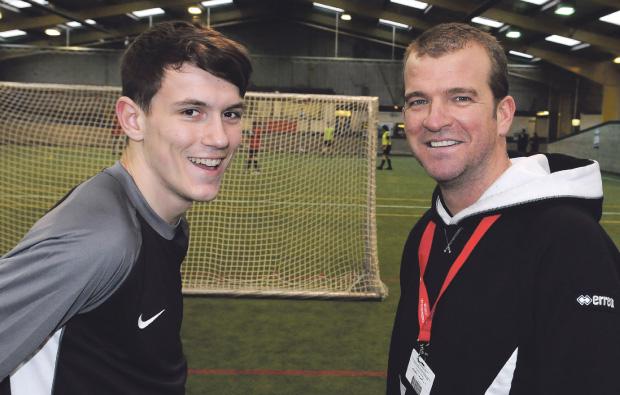 Footie star coaches at Middlesbrough College