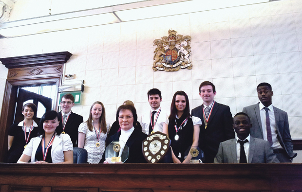 Priestly College students' courtroom drama
