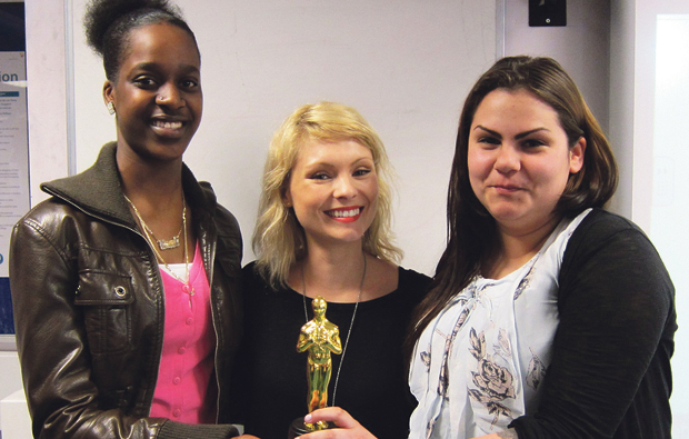 Hollywood star visits Uxbridge College