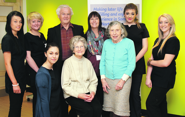 Weston College students pamper pensioners