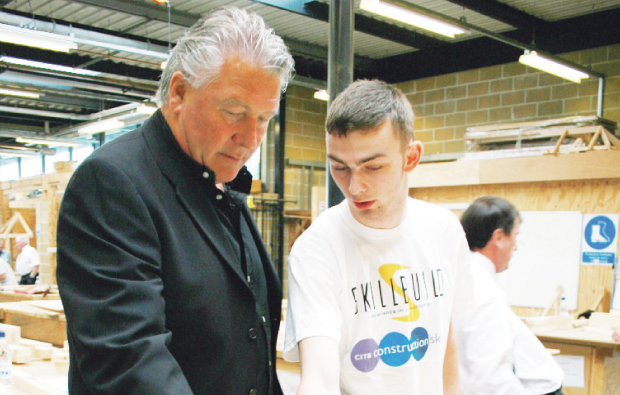 Ground Force star on hand at Barking and Dagenham College for Skillbuild competition