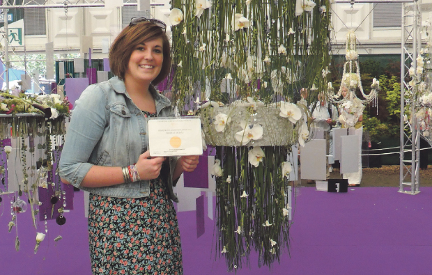 Blooming brilliant City of Bath College student scoops bronze medal at flower show