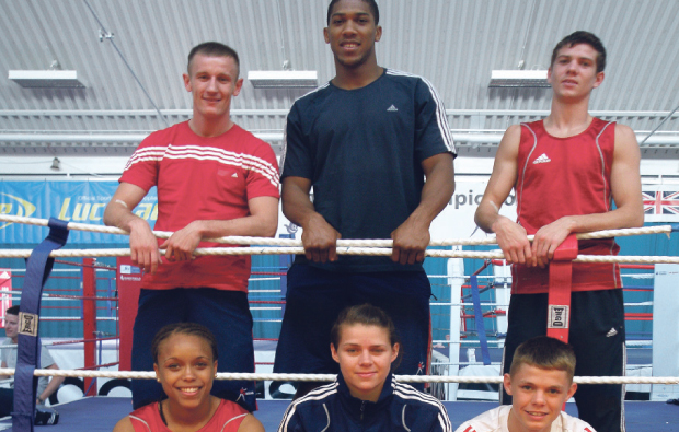 Olympic hopefuls in the ring at Dearne Valley College