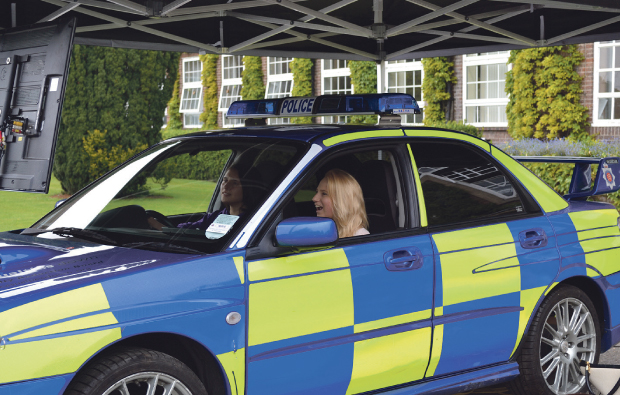 Road safety campaign at Writtle College