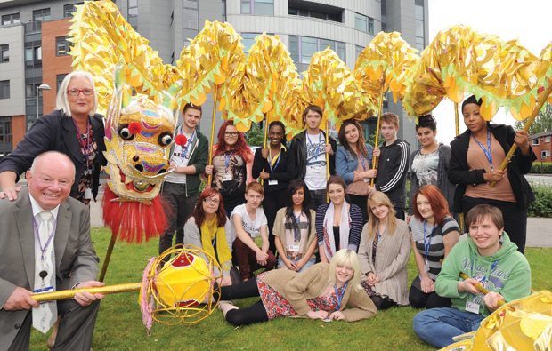 Chinese dragon at City College Coventry
