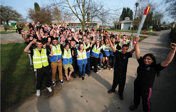 Derby students with the Olympic touch