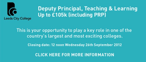 Leeds City College: Deputy Principal, Teaching & Learning