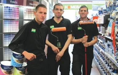 Walsall College students brushed up their DIY knowledge for jobs at Homebase. Pictured, from left, are: Andrew Watts, shop floor team leader, Solihull, Matt Handley, shop floor assistant and Paul Armstrong, trainee team leader, both Oldbury
